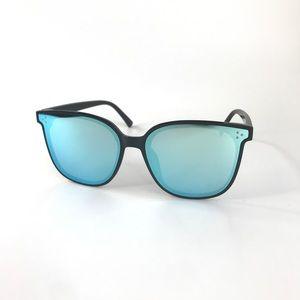 NEW Square Frame Sunglasses Oversized - Blue